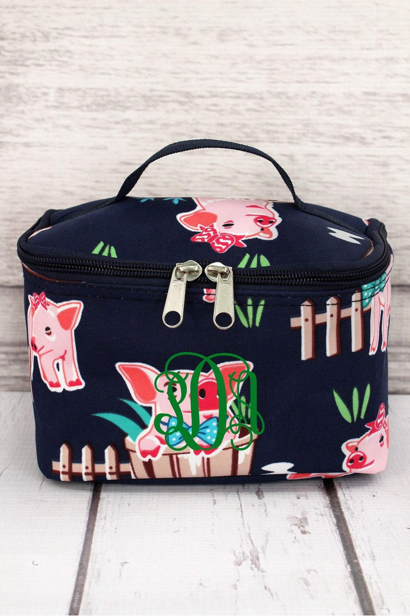 Playful Pigs Case with Navy Trim #PIQ277-NAVY