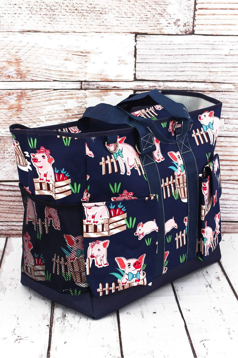 NGIL Playful Pigs Everyday Organizer Tote
