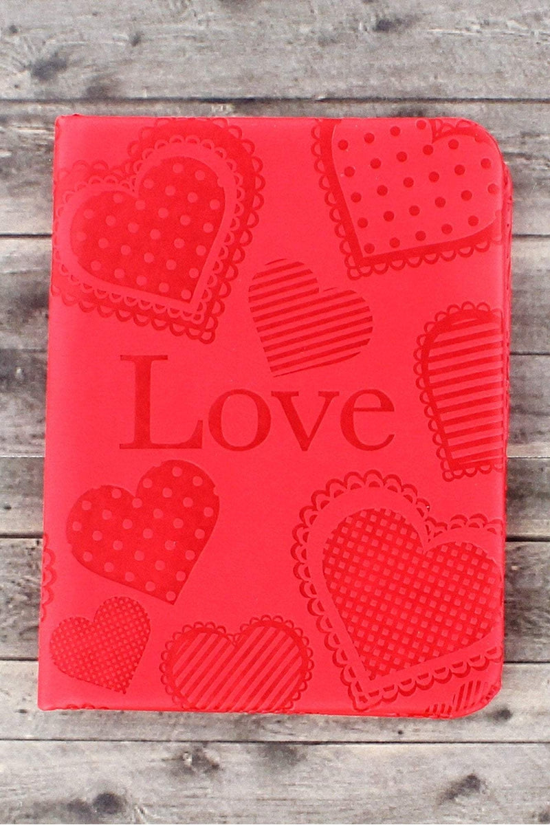 Red LuxLeather 'Love' Pocket Inspirations