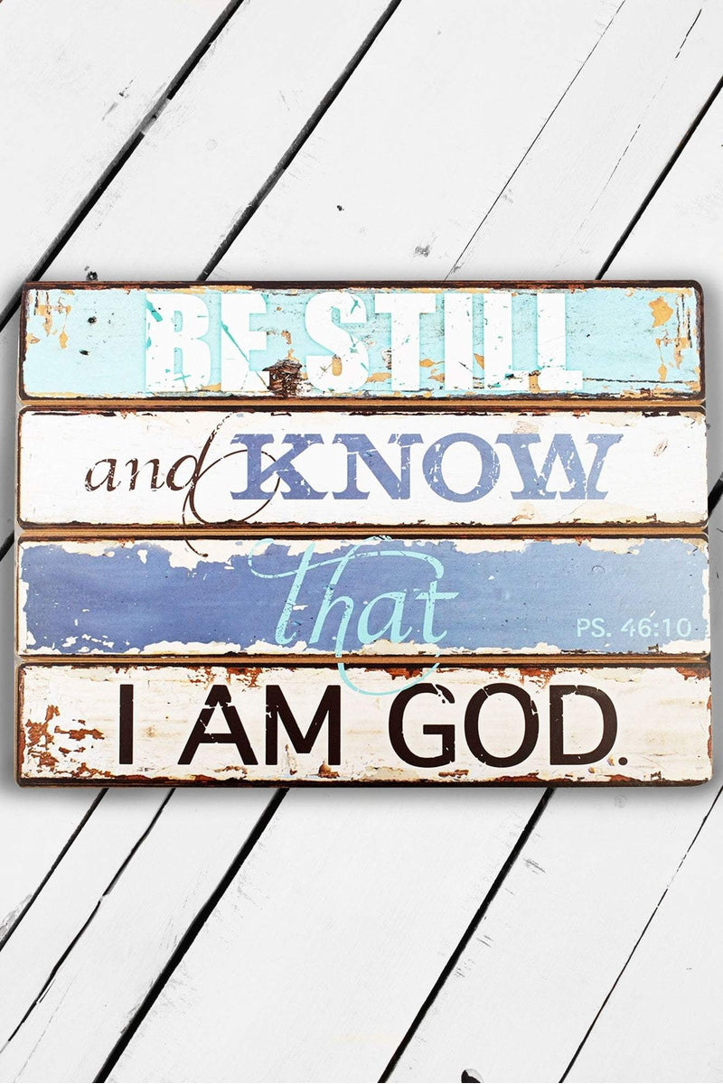 Be Still Psalm 46:10 Wooden Wall Plaque #PLA015 - Wholesale Accessory Market