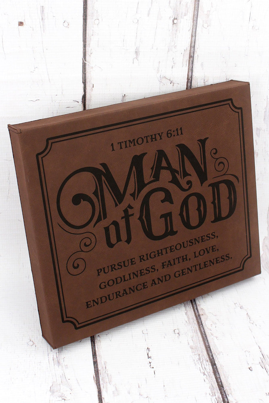 1 Timothy 6:11 'Man of God' Wall Plaque