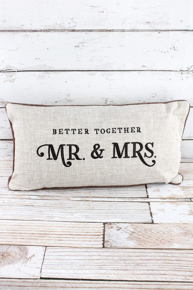 12 x 22 Better Together Mr. & Mrs. Oblong Throw Pillow
