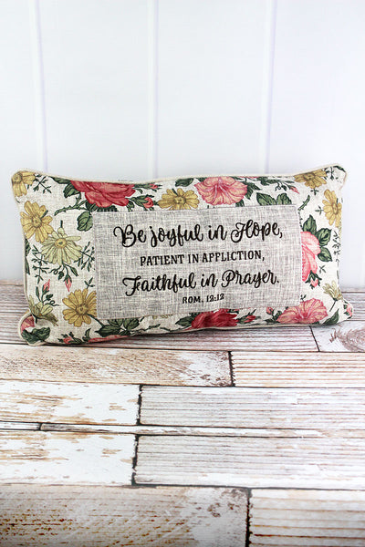 12 x 22 'Be Joyful In Hope' Oblong Throw Pillow