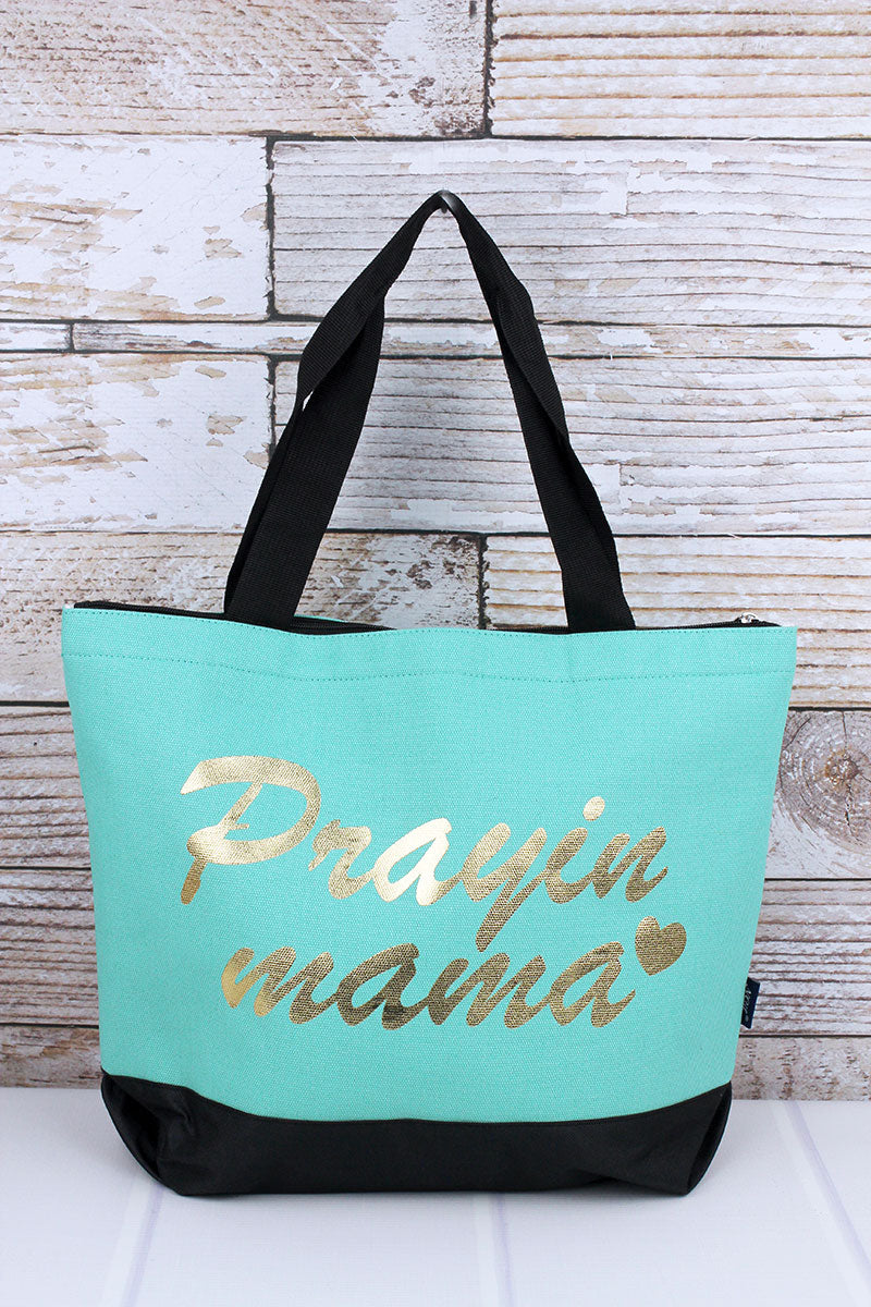 Metallic Gold 'Praying Mama' Mint Tote Bag