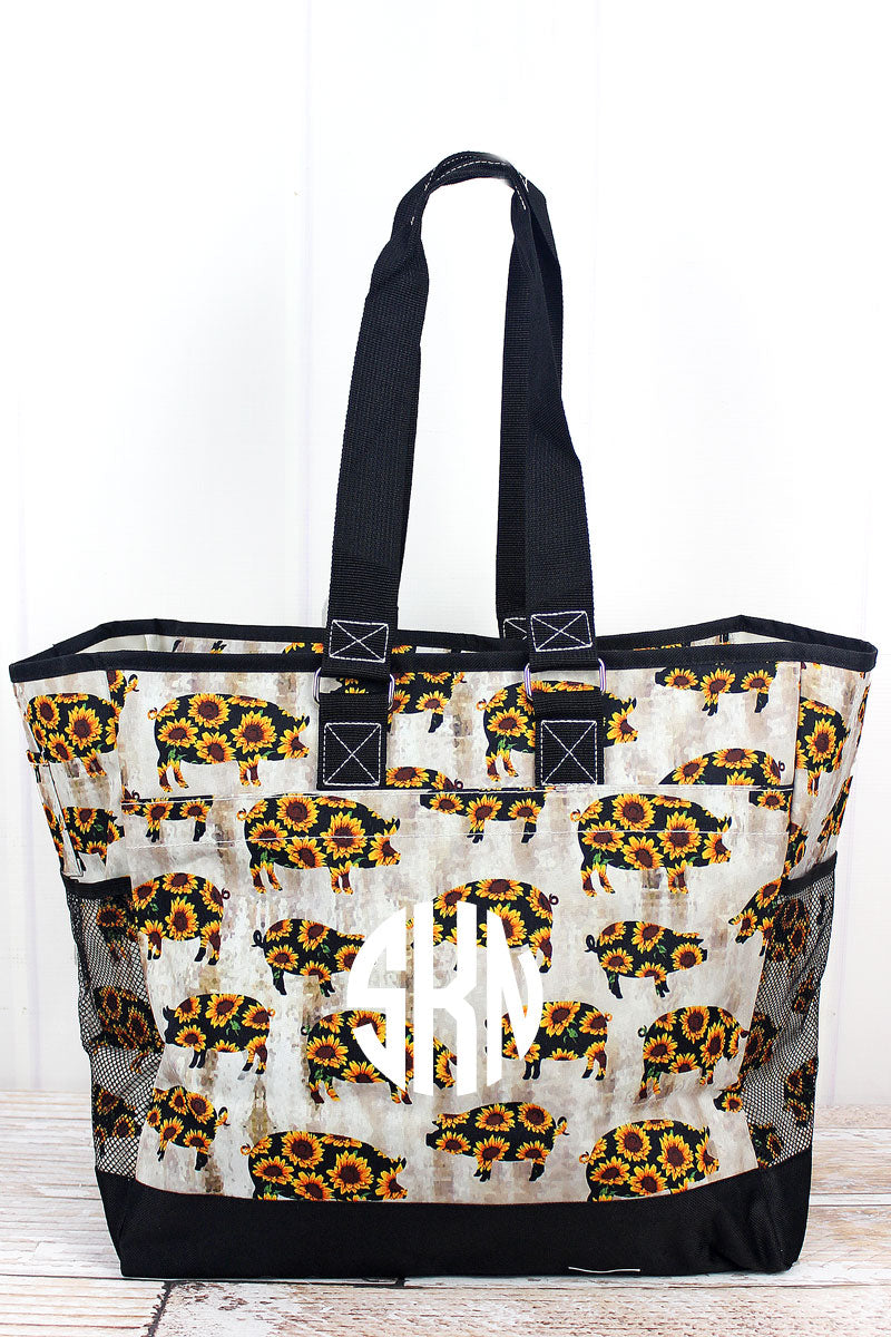 NGIL Sunflower Pig Everyday Organizer Tote