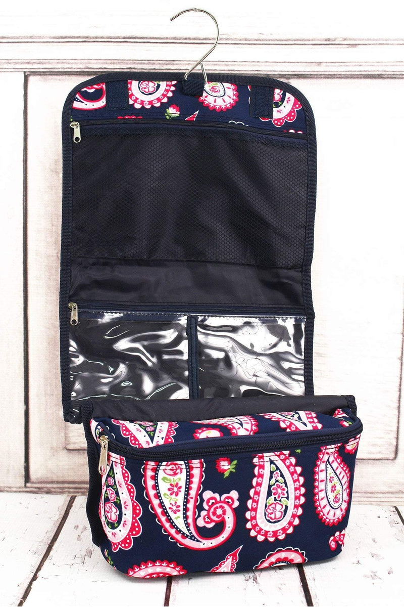 NGIL Paisley Passion Roll Up Cosmetic Bag #PSN729-NAVY