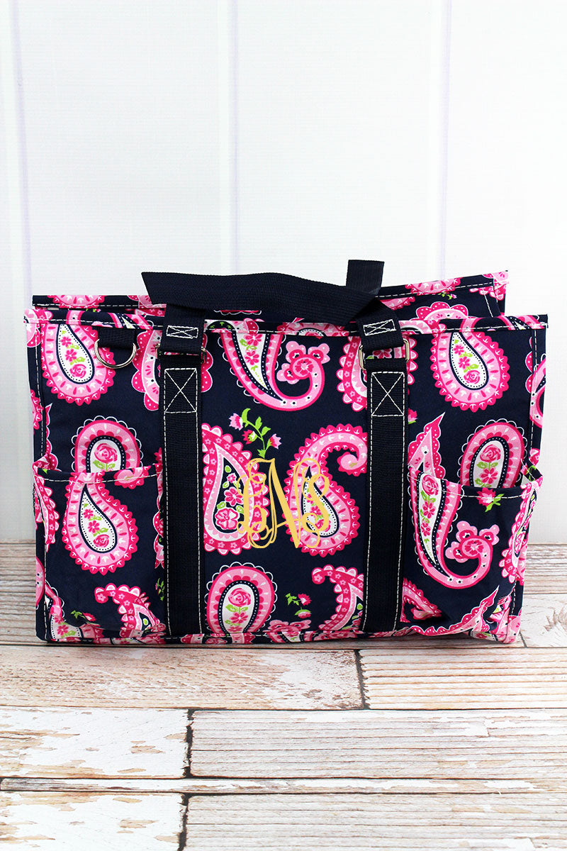 NGIL Paisley Passion Utility Tote with Navy Trim