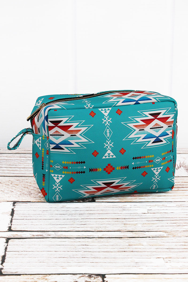 NGIL Santa Fe Sunrise Faux Leather Cosmetic Case