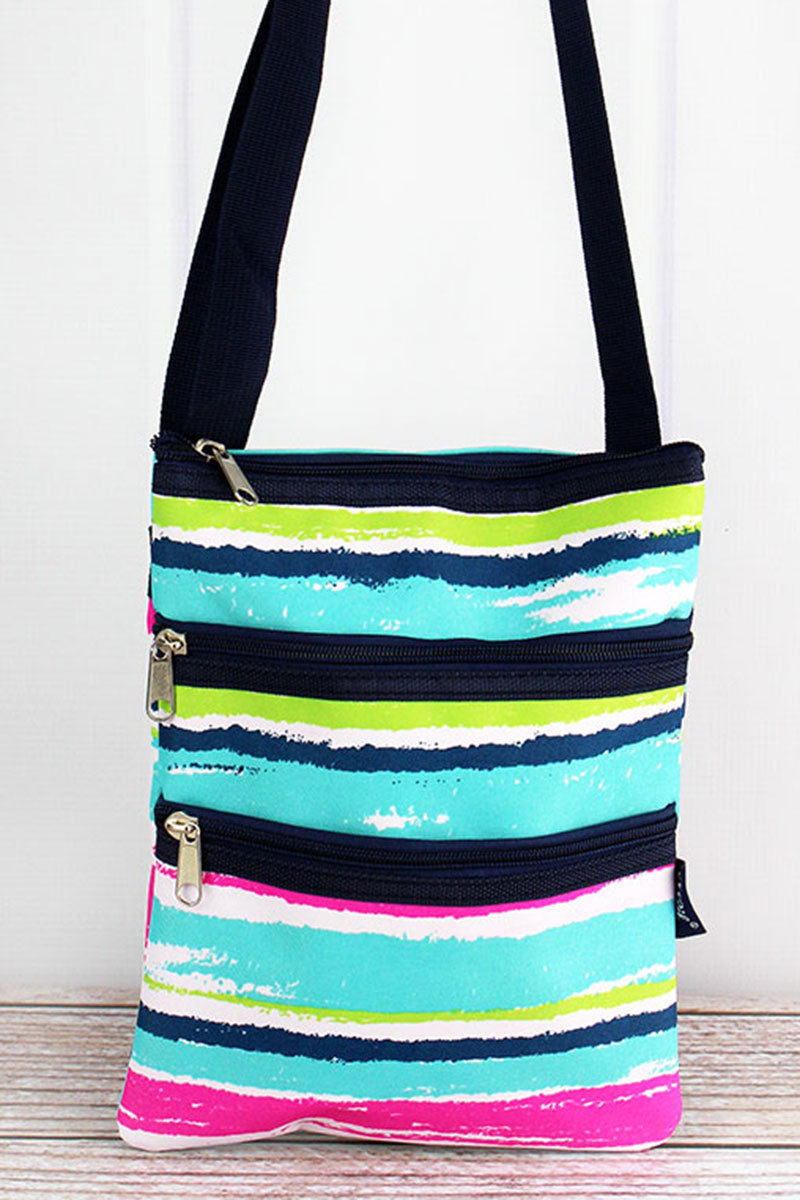 NGIL Caribbean Stripe Crossbody Bag