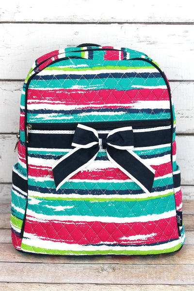 NGIL Caribbean Stripe Quilted Backpack