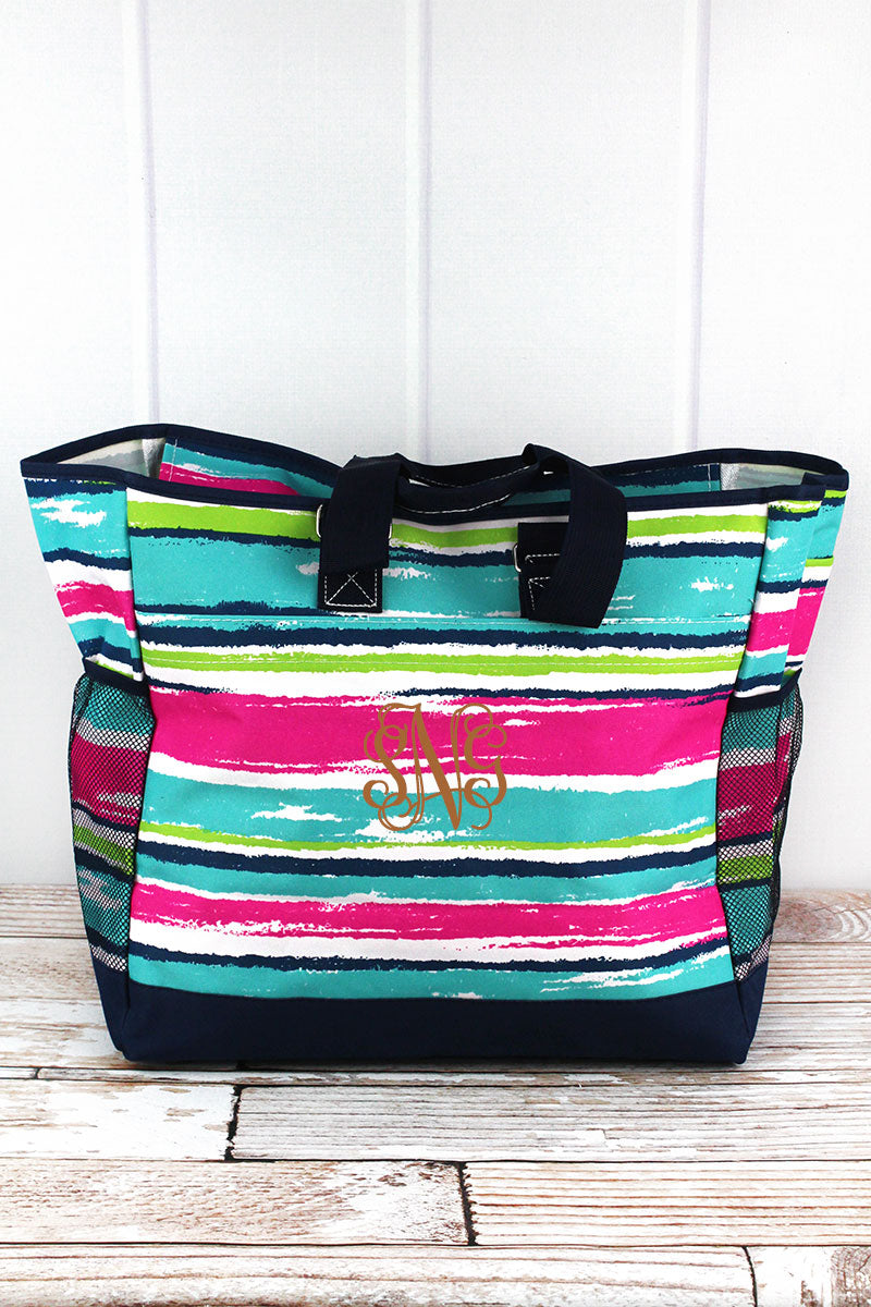 NGIL Caribbean Stripe Everyday Organizer Tote