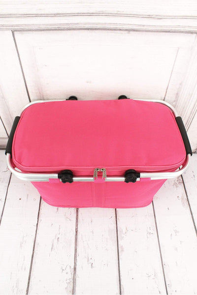 NGIL Hot Pink Collapsible Insulated Market Basket with Lid