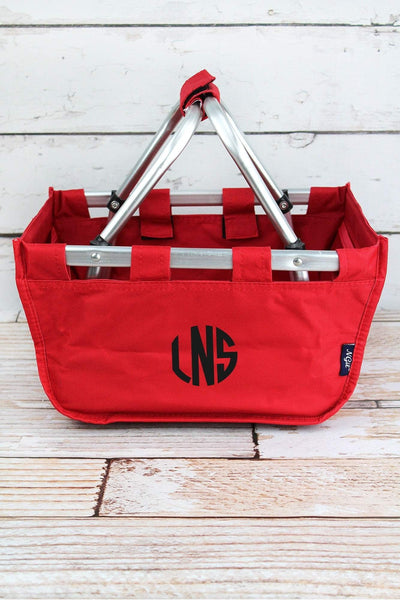 NGIL Red Mini Collapsible Market Basket