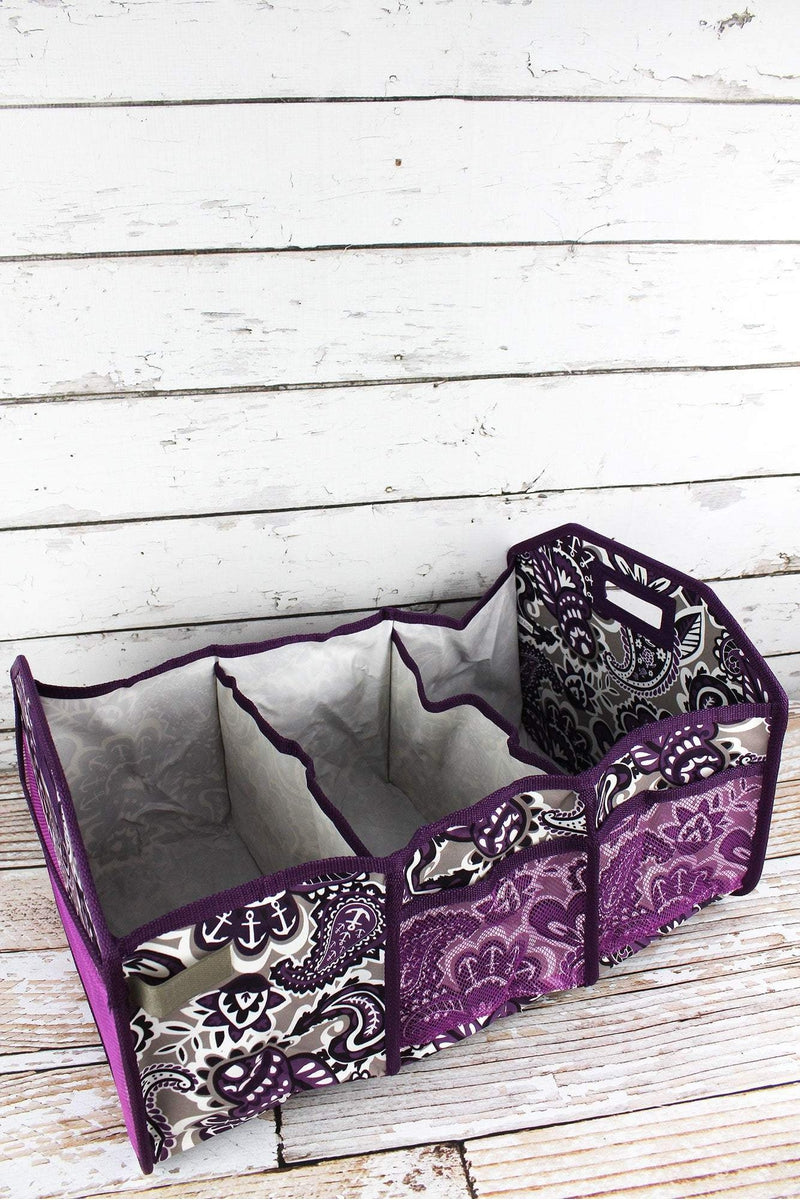 NGIL Paisley Paradise Utility Storage Tote with Insulated Bag