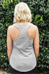 Next Level Ladies' Colorblock Racerback Tank, Lilac/Heather Gray *Personalize It!