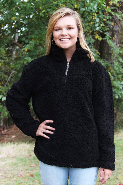 Boxercraft Black Sherpa Pullover *Personalize It