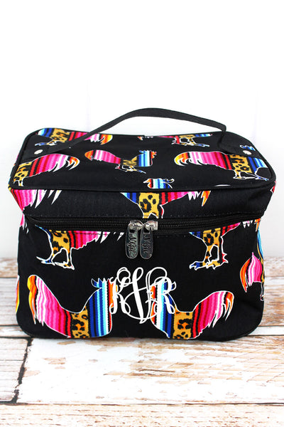 NGIL Wild Serape Roosters Train Case