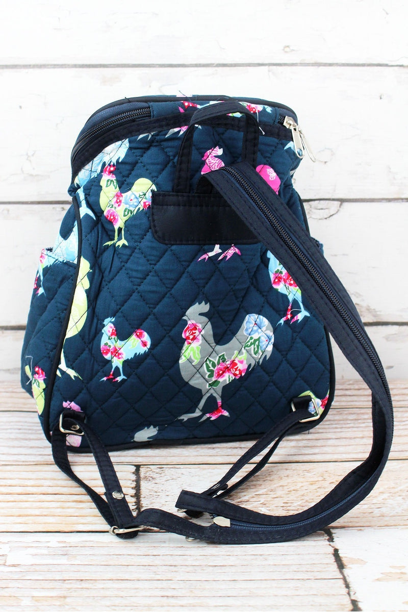 NGIL Rosy Roosters Quilted Petite Backpack