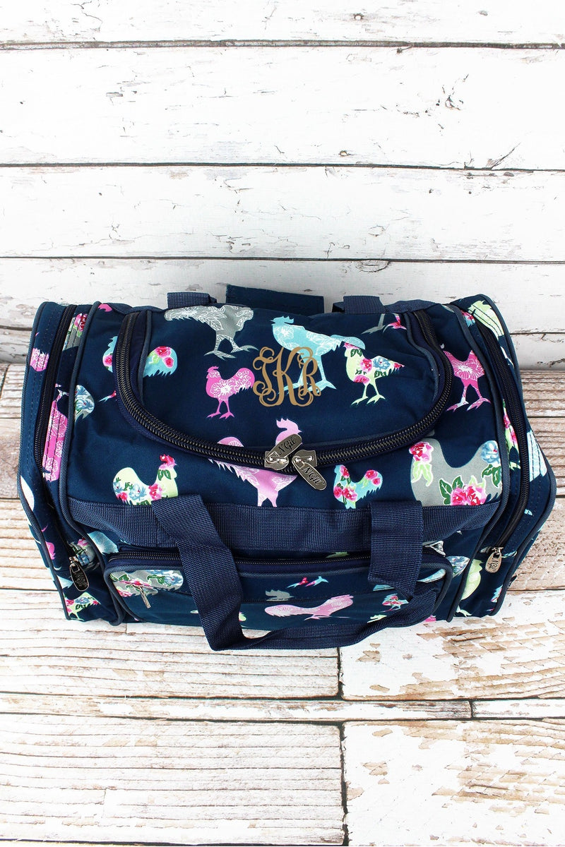 NGIL Rosy Roosters Duffle Bag 17""