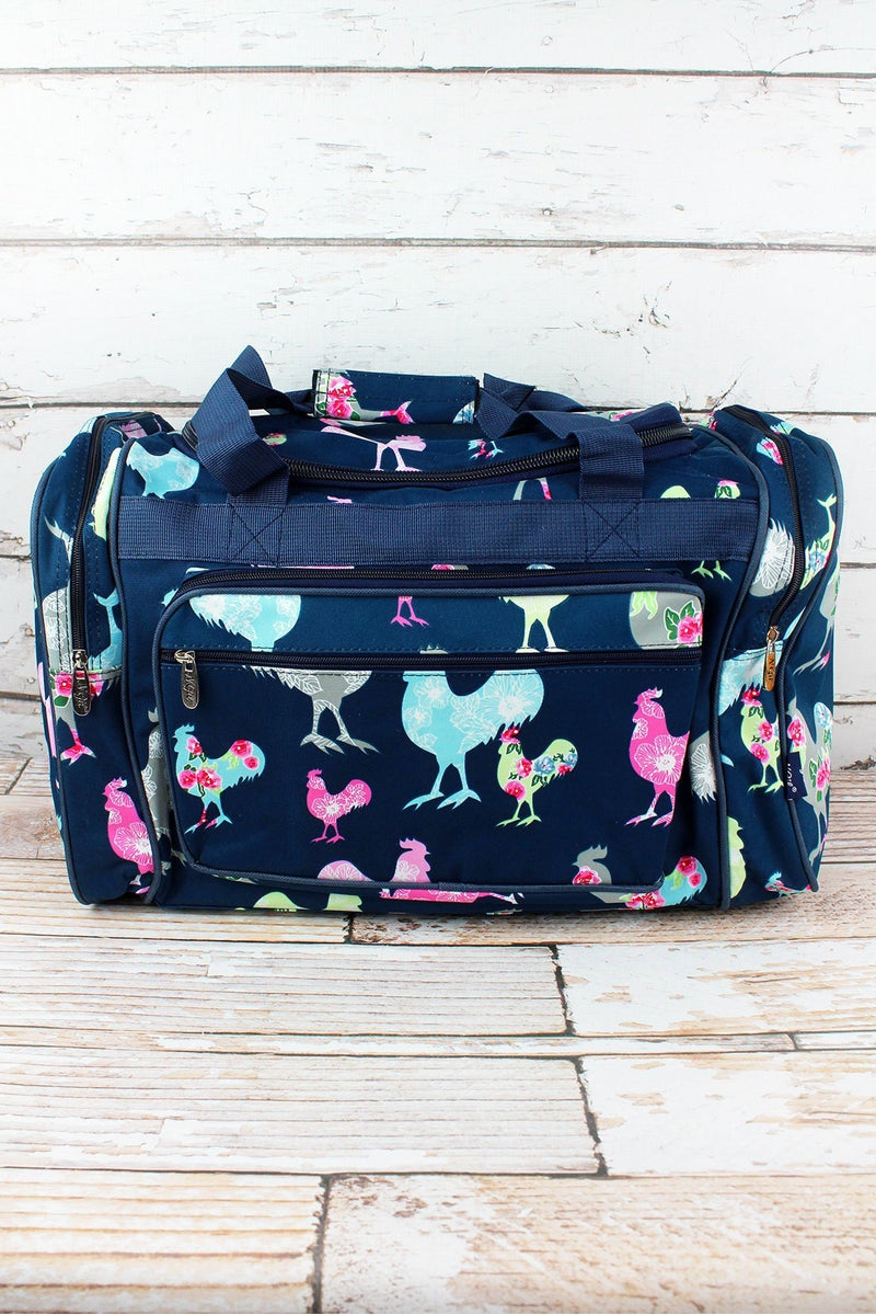 NGIL Rosy Roosters Duffle Bag 20""