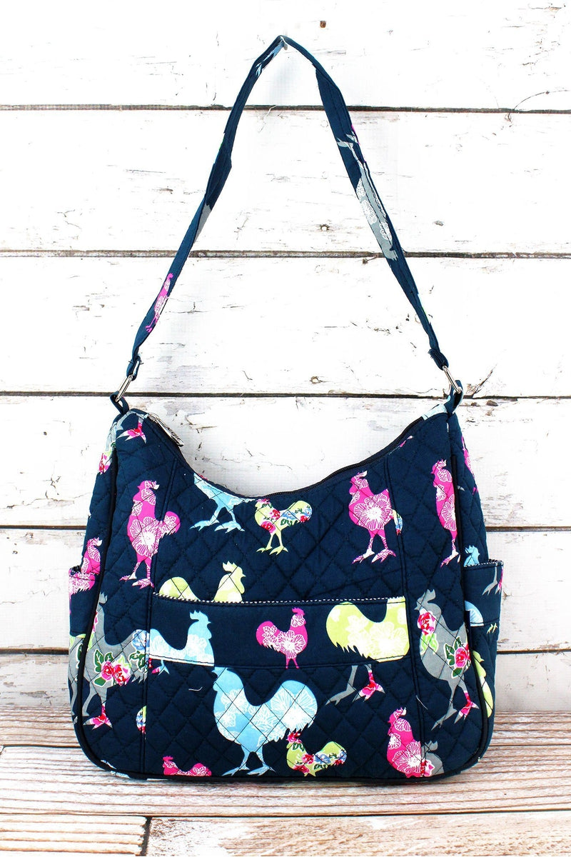 NGIL Rosy Roosters Quilted Shoulder Bag