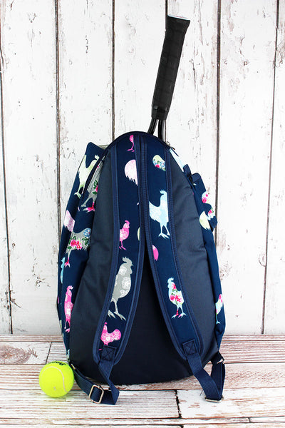 SALE! NGIL Rosy Roosters Tennis Backpack