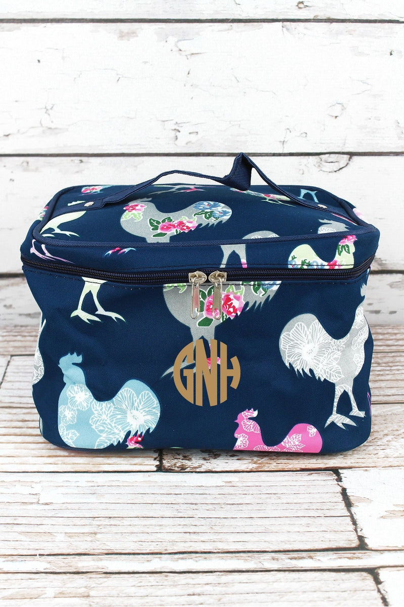 NGIL Rosy Roosters Train Case