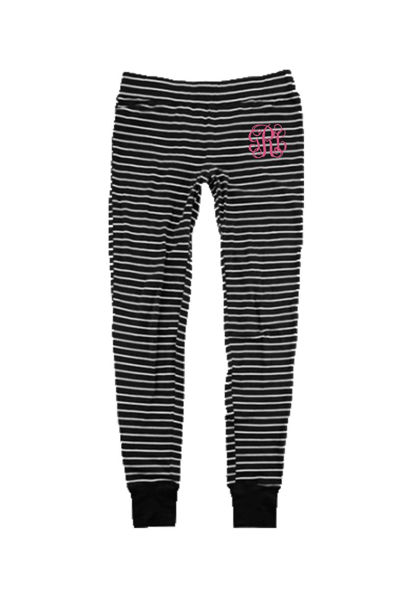 Black Stripe Lux Jogger #S60 *Personalize It (PLEASE ALLOW 3-5 BUSINESS DAYS. EXPEDITED SHIPPING N/A)