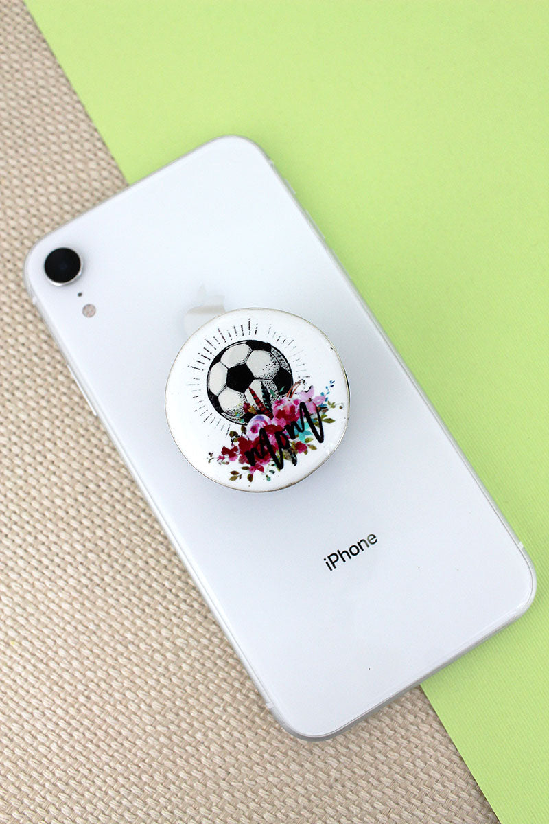 Soccer Mom Disk Cell Phone Grip Cover