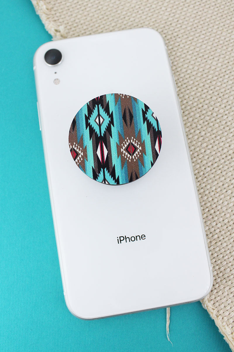 Sonoran Sky Wood Disk Cell Phone Grip Cover