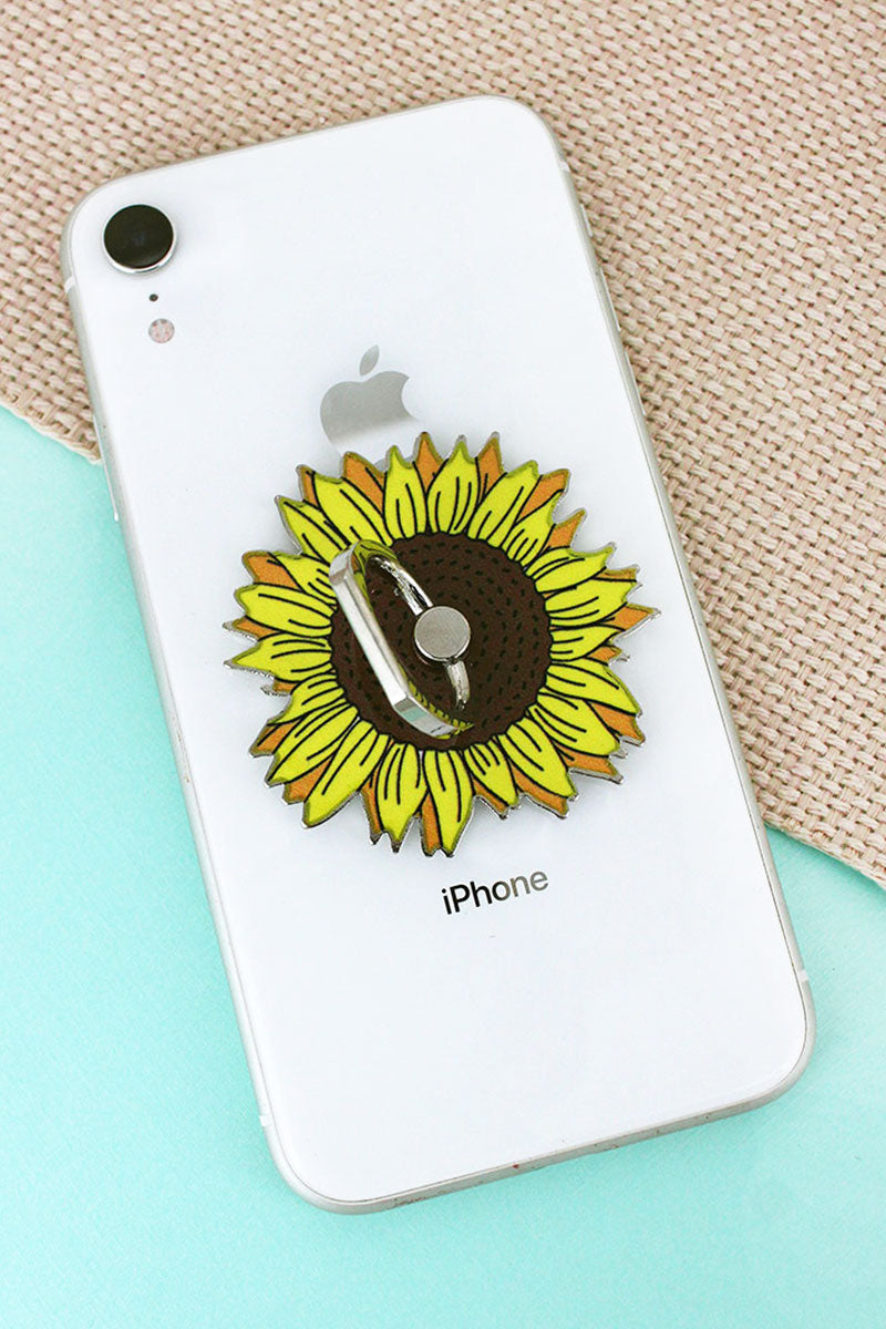 Sunflower Cell Phone Finger Grip & Stand