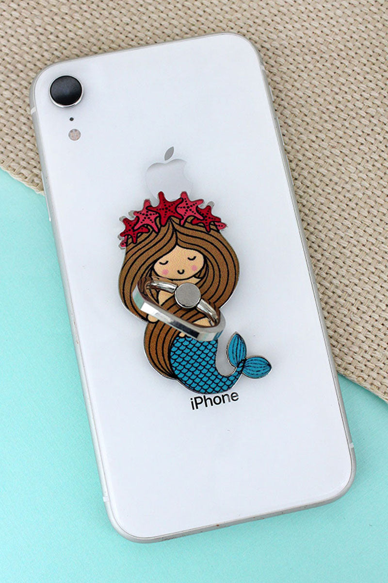 Mermaid Cell Phone Finger Grip & Stand