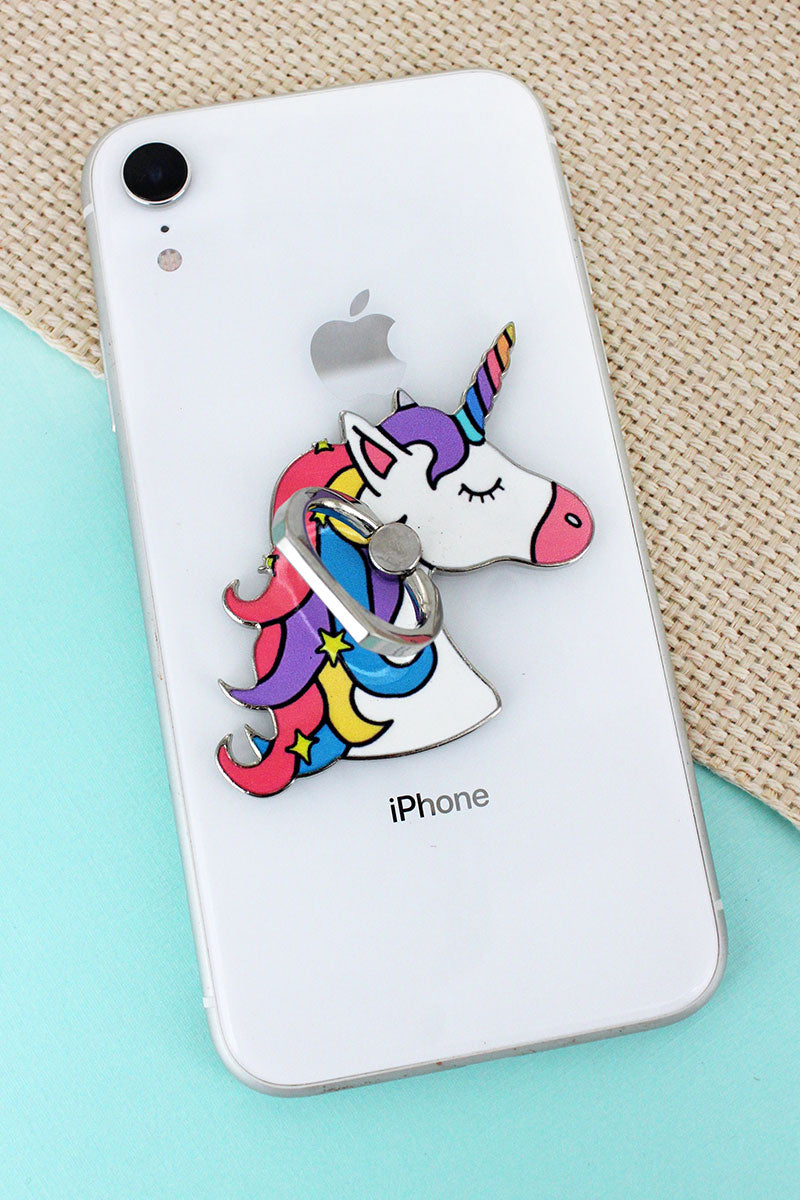 Unicorn Head Cell Phone Finger Grip & Stand