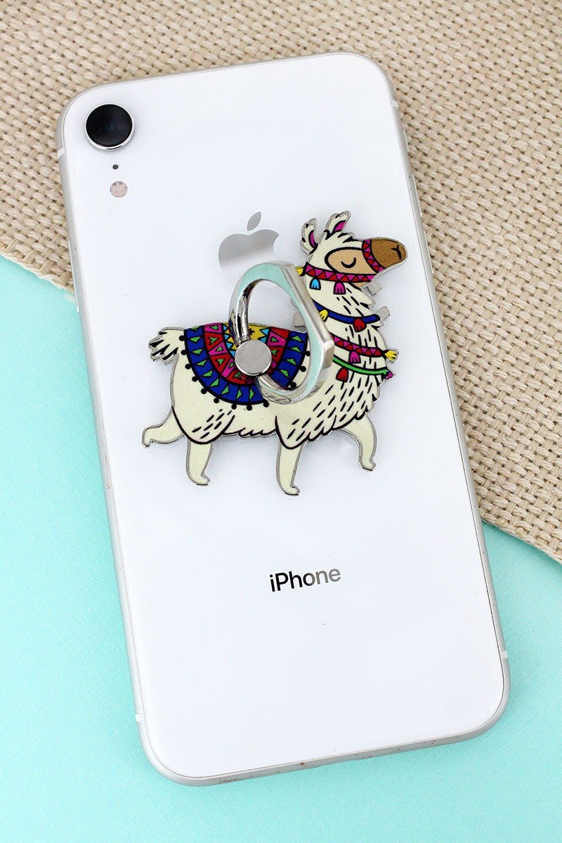 Llama Cell Phone Finger Grip & Stand