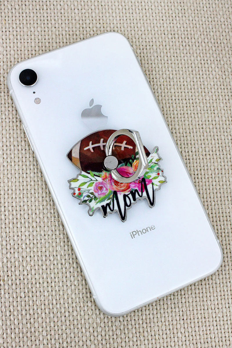 Football Mom Cell Phone Finger Grip & Stand