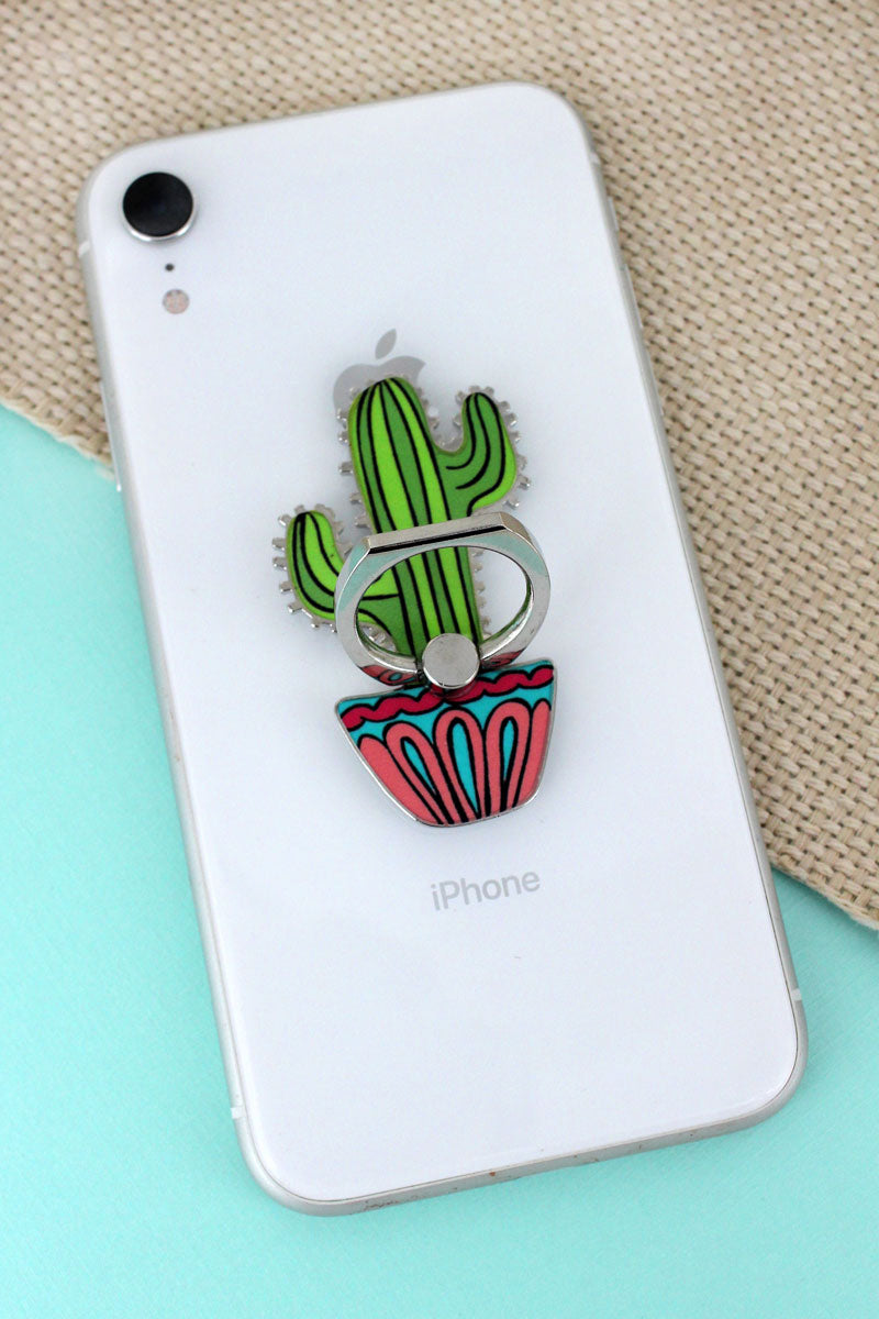 Saguaro Cactus Cell Phone Finger Grip & Stand