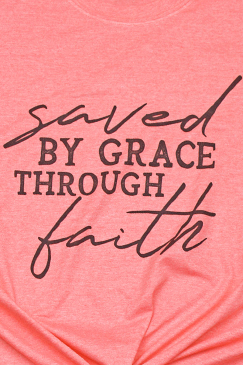 Saved By Grace Softstyle Adult T-Shirt