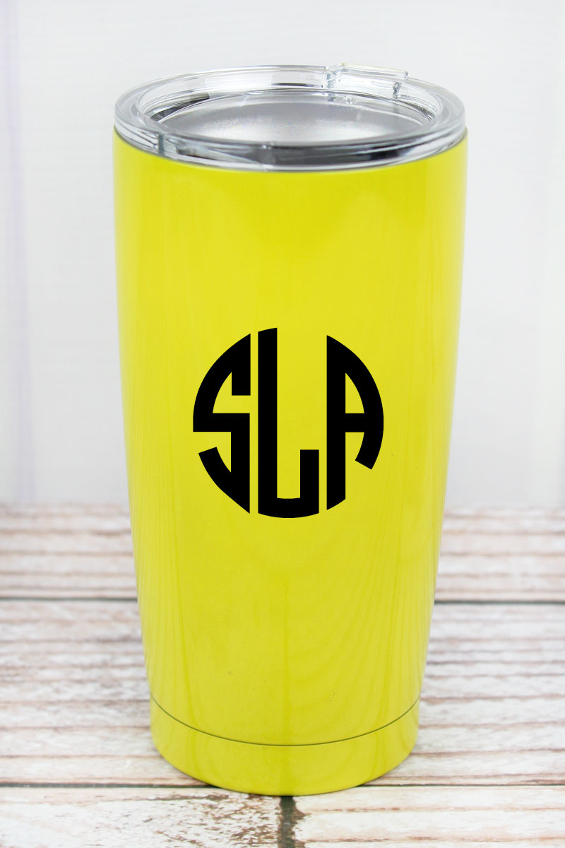 Softball 20 oz Stainless Steel Travel Mug