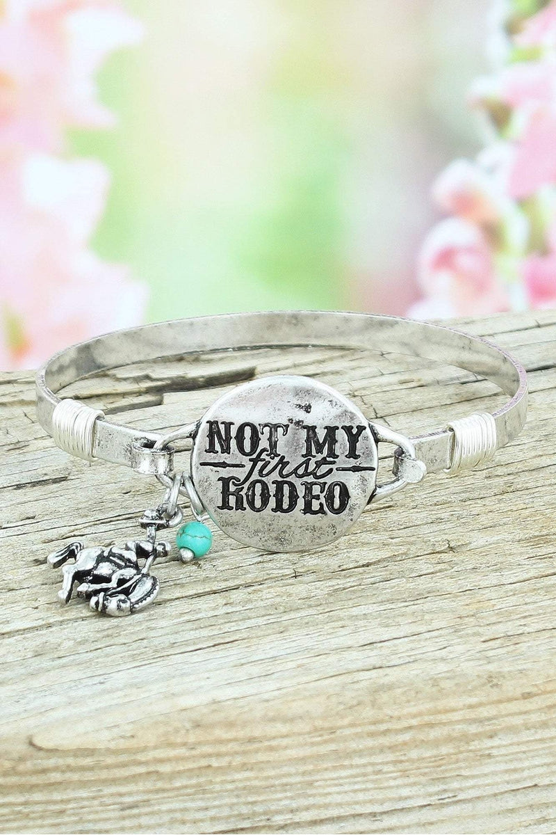 Burnished Silvertone 'Not My First Rodeo' Bracelet