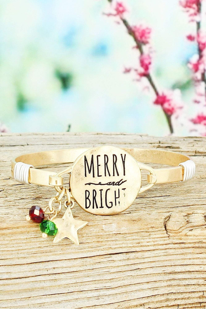 Worn Goldtone 'Merry and Bright' Bracelet