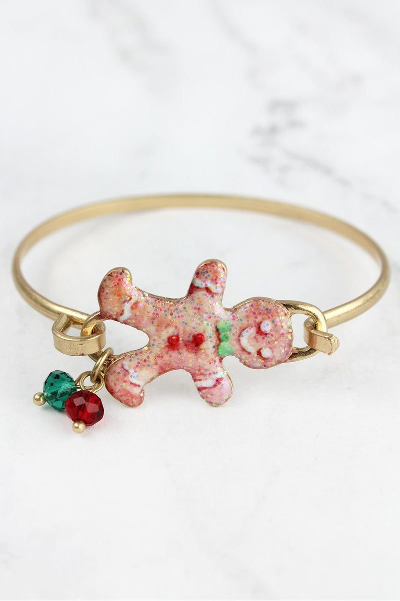 Gingerbread Man Goldtone Bracelet
