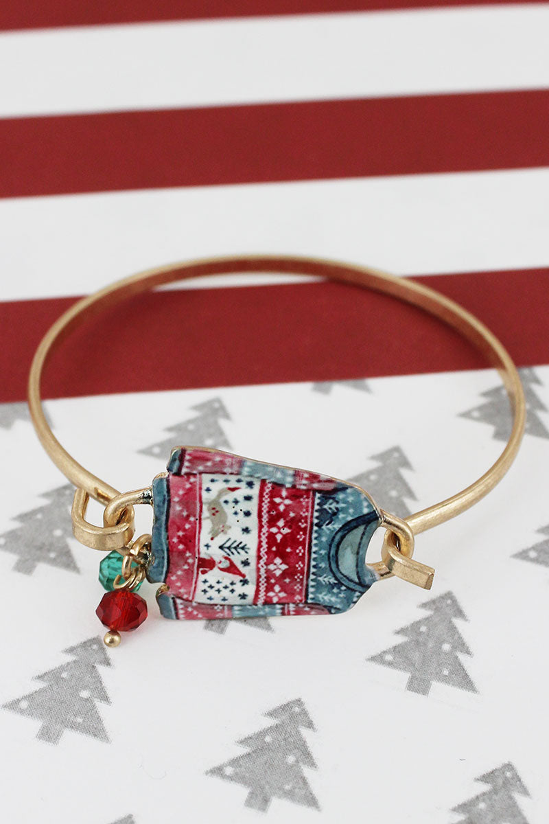 Ugly Christmas Sweater Goldtone Bracelet