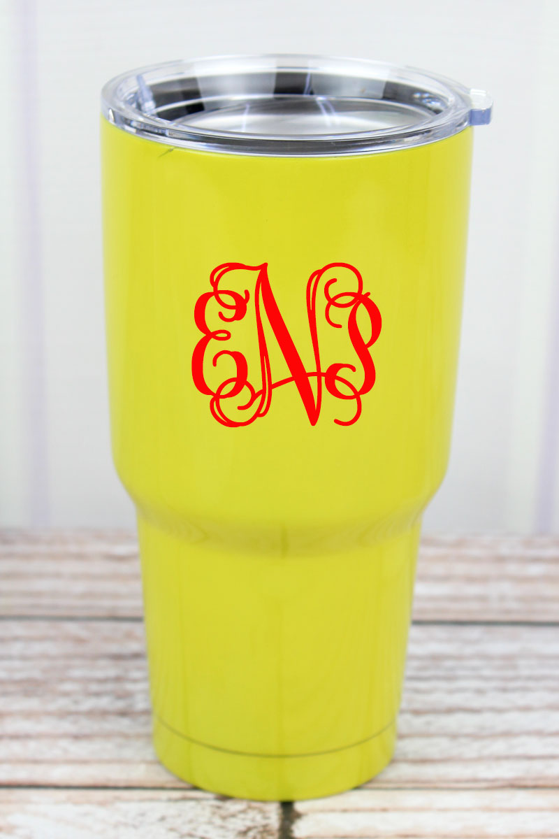 Softball 30 oz Stainless Steel Travel Mug