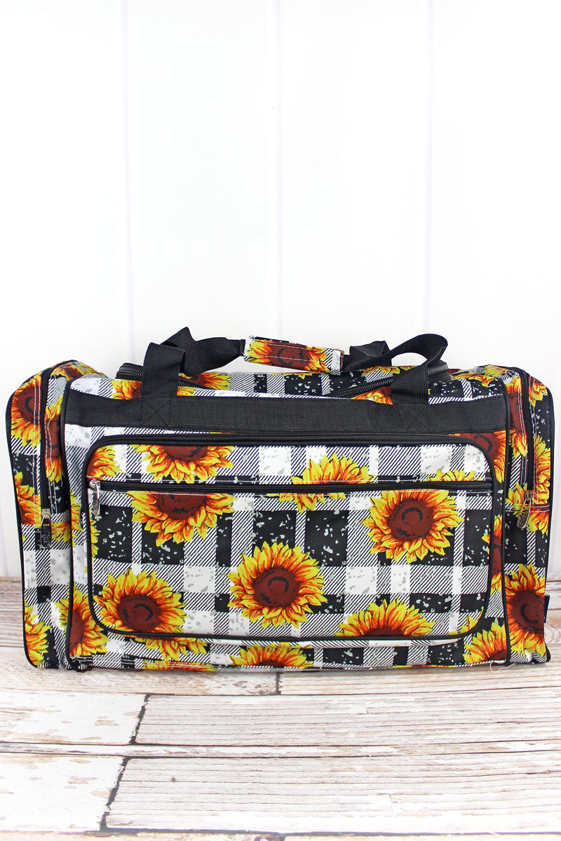 NGIL Sunflower Plaid Duffle Bag 23""