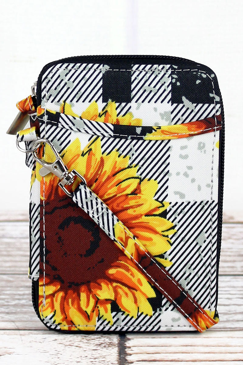 NGIL Sunflower Plaid Wristlet
