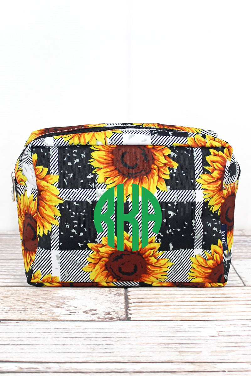 NGIL Sunflower Plaid Cosmetic Case