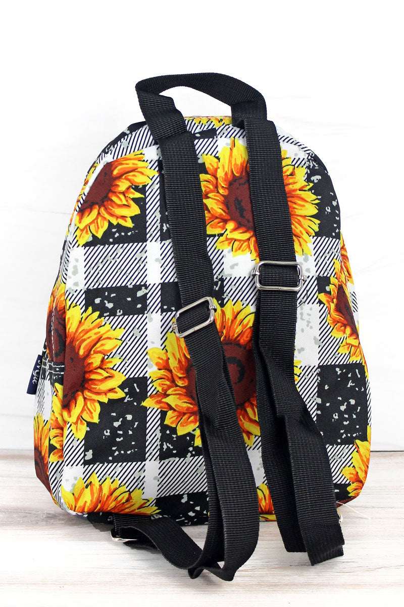 NGIL Sunflower Plaid Small Backpack