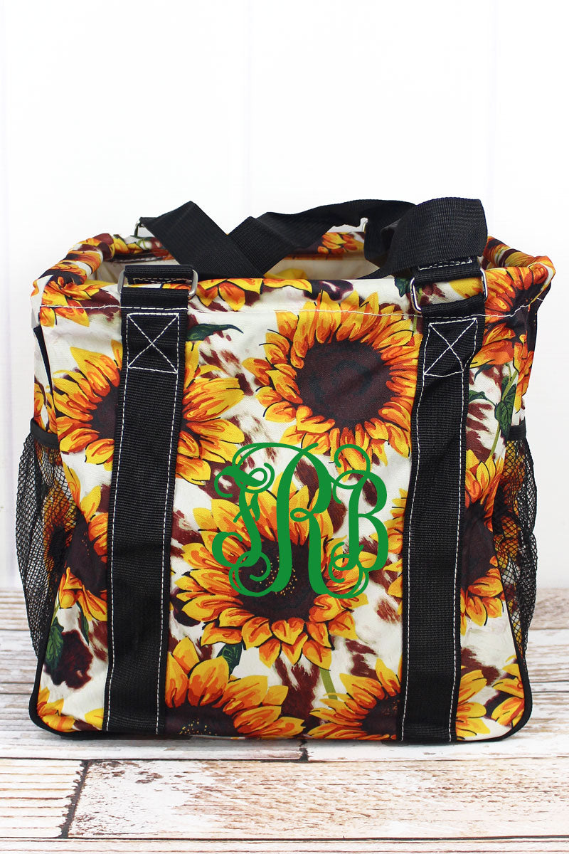 NGIL Sunflower Farm Mini Collapsible Haul-It-All Basket with Mesh Pockets