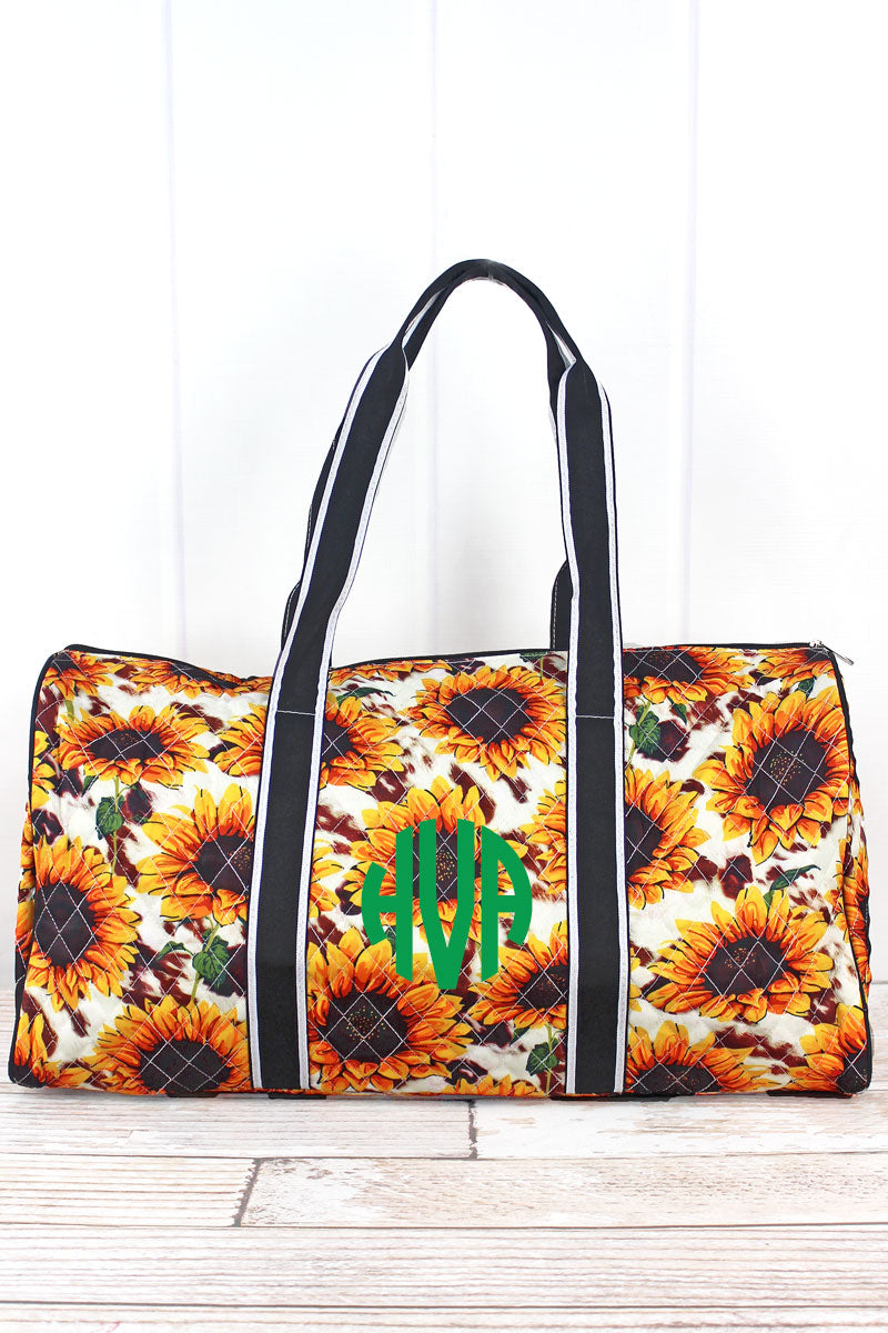 NGIL Sunflower Farm Quilted Duffle Bag 21""