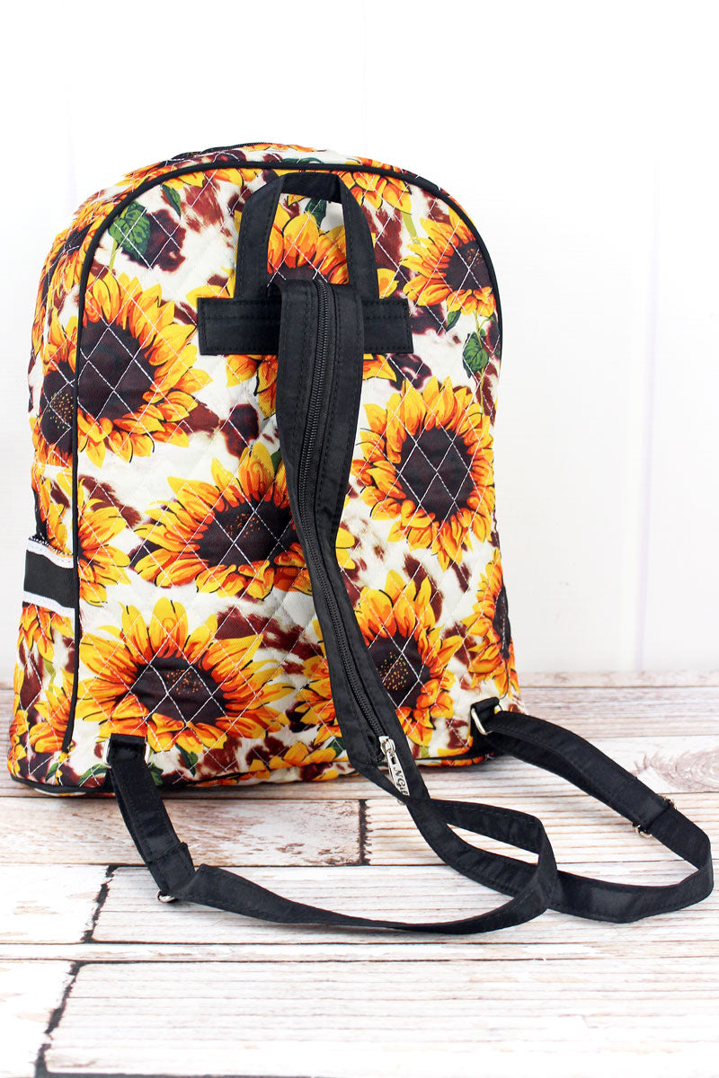 NGIL Sunflower Farm Quilted Backpack